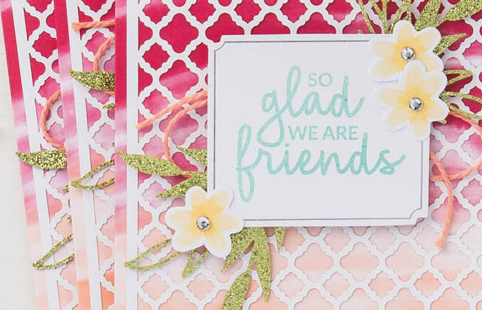 karte so glad we are friends stampin up alles was freude macht