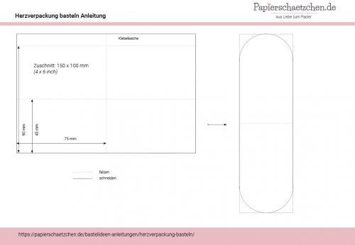 Bastelanleitung PDF für Herzverpackung