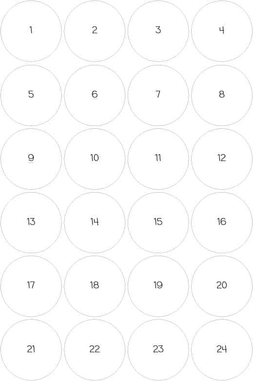 Bingo Zahlenjetons zum Ausdrucken als Freebie