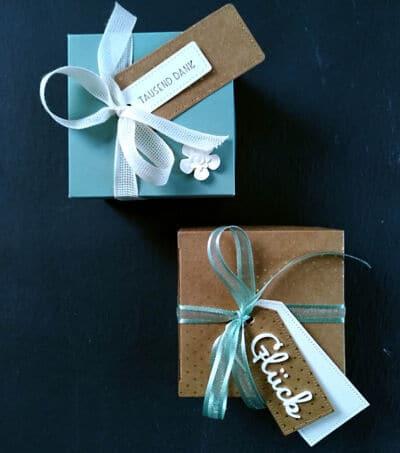 Stampin' Up! Geschenkschachtel aus Kraftpapier basteln