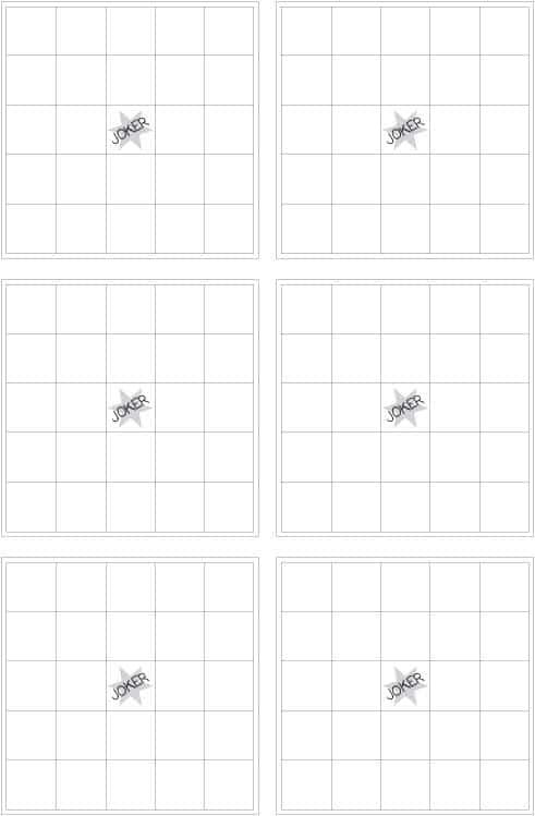 Spielscheine für kinder bingo zum ausdrucken als freebie