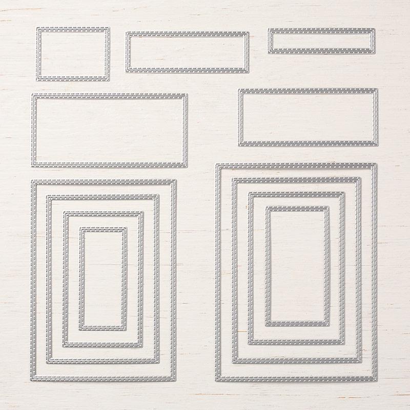 framelits bestickte rechtecke von stampin up