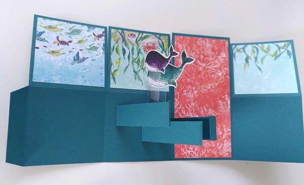 card in a box basteln zwischenschritt