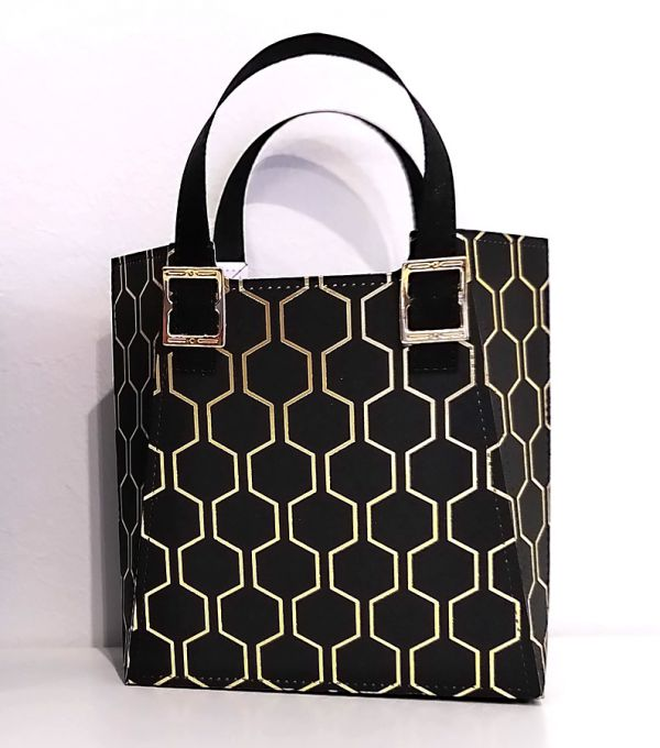 handtasche basteln mit designerpapier bienengold