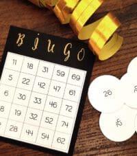 selbst gebastelter spielschein für bingo