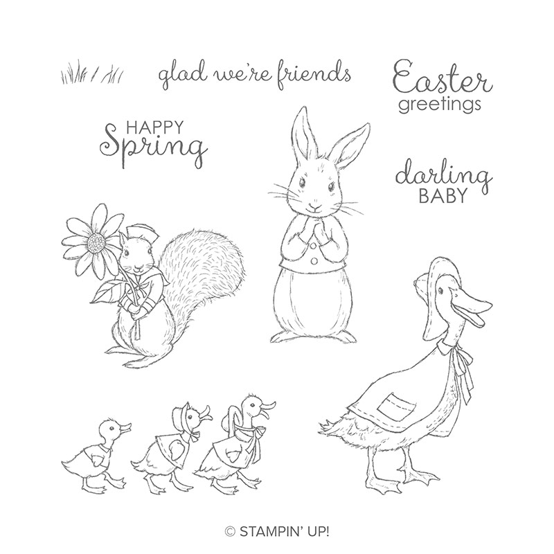 fable friends stempelset stampin up