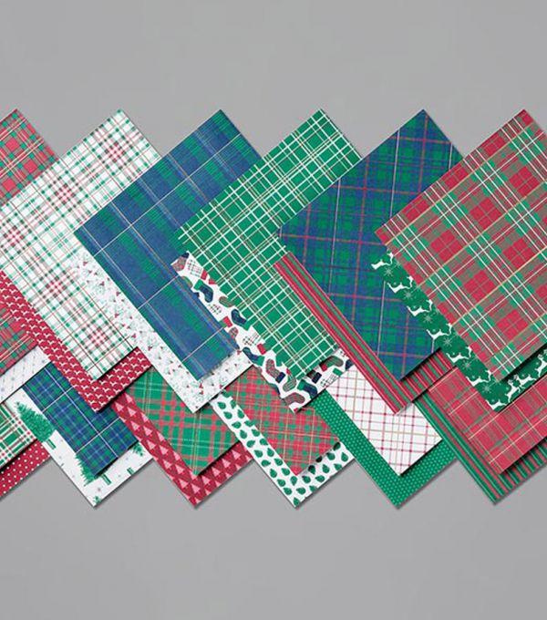 designerpapier festliche karos von stampin up