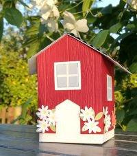 geschenkbox basteln schwedenhaus