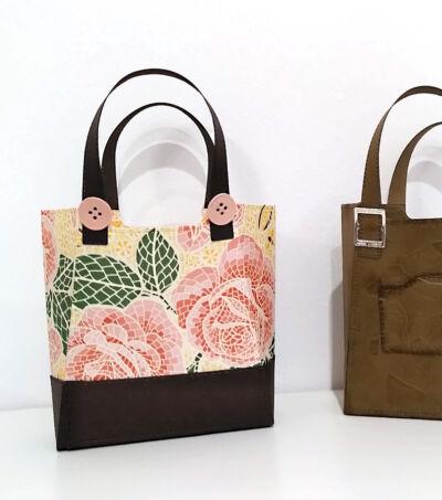 handtasche aus papier basteln mit stampin up mit stil und klasse