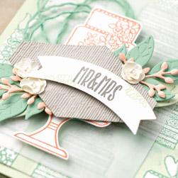 Hochzeitskarte basteln stampin up