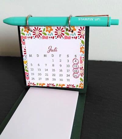 kalender selbst gebastelt mit Stampin up bastelmaterial