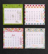 gestempelter kalender