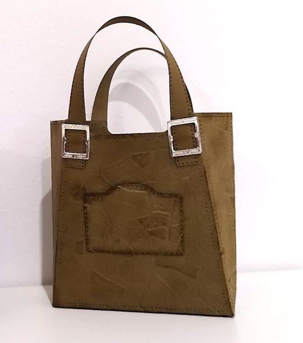 handtasche basteln in lederlook mit stampin up