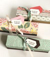 huebsche geschenkboxen gebastelt aus dem designerpapier maerchenhaftes mosaik
