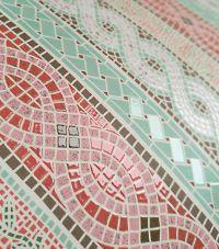 uv spotlackierung sieht aus wie echte kacheln auf papier maerchenhaftes mosaik