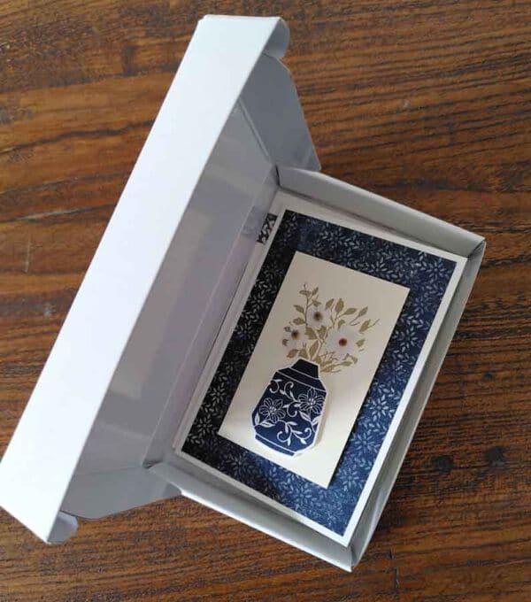 paper pumpkin box von stampin up mit grusskaertchen
