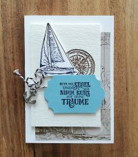 karte mit stempelset setz die segel von stampin up