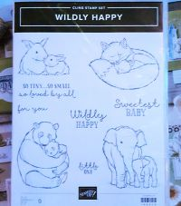 stampin up stempelset wildly happy