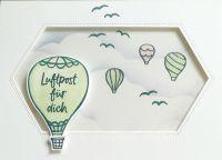 floating Card mit Heißluftballons aus dem Set über den Wolken von Stampin up