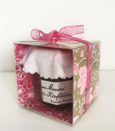 Mini marmelade in gebastelter verpackung