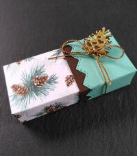 weihnachtliches Goodie mit Schokolade selbst gebastelt
