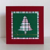 weihnachtskarte stampin up tannen und karos